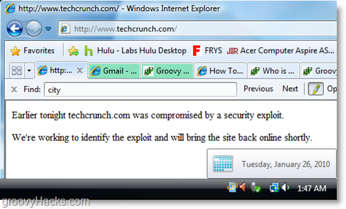 tech crunch was hacked, oh no!