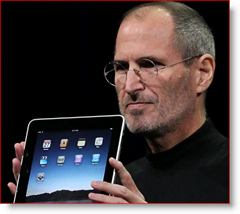 Steve jobs presents the Apple iPad Tablet