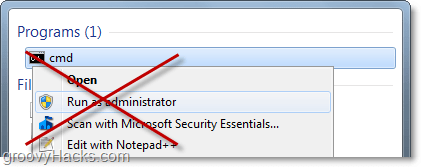 no need to right click and run as administrator