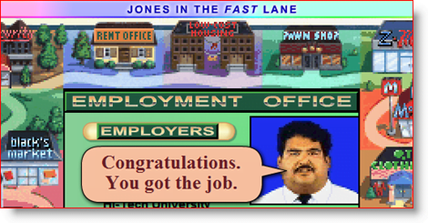 Jones in the fast lane screenshot