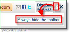 how to remove the Diggbar from Digg