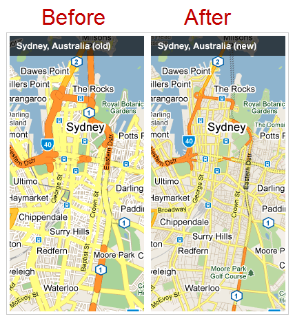 Google Maps Sydney Australia Updated